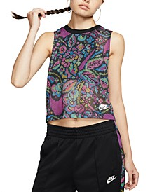 Women's Printed Cropped Tank Top