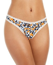 Women's Lace-Trim Thong QD3705