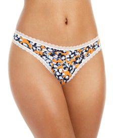 Calvin Klein Women's Lace-Trim Thong QD3705