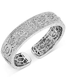 Diamond Openwork Cuff Bracelet (1/2 ct. t.w.) in Sterling Silver