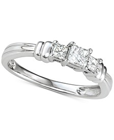 Diamond Princess Trio Diamond Engagement Ring (1/2 ct. t.w.) in 14k White Gold
