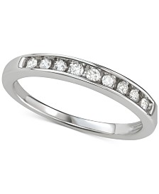 Diamond Channel-Set Band (1/6 ct. t.w.) in 14k White Gold