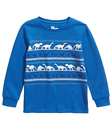 Little Boys Dinosaur-Print Thermal T-Shirt, Created For Macy's