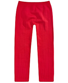 Big Girls Cable Knit Leggings, Created For Macy's