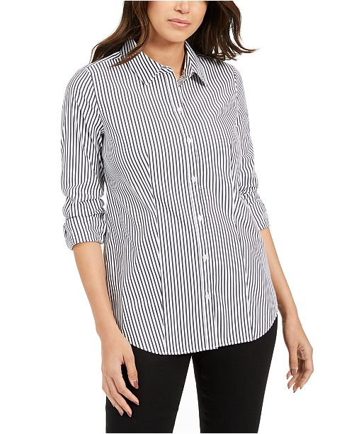 Charter Club Striped Shirt, Created For Macy's