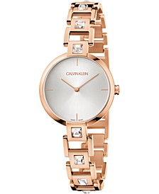 Women's Mesmerize Pink Gold-Tone PVD Stainless Steel Bracelet Watch 32mm