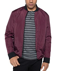 Men's Colorblocked Water-Resistant Bomber Jacket
