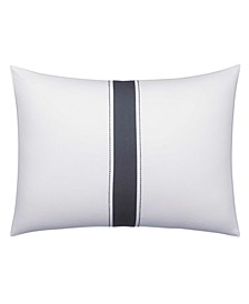 Zig Zag Center Pieced Stripe Throw Pillow