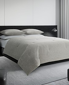 Vera Wang Bamboo Leaves Queen Duvet Cover Set