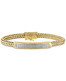 Diamond ID Bracelet (3/4 ct. t.w.) in 14k Gold Over Sterling Silver