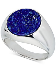 Men's Lapis Lazuli (15mm) Ring in Sterling Silver