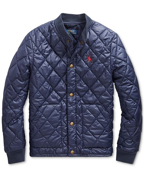 Polo Ralph Lauren Big Boys Quilted Water-Repellent Jacket