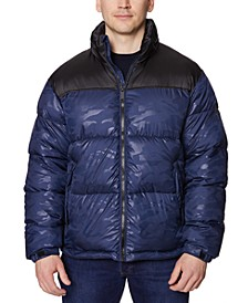 Men's Colorblocked Puffer Jacket