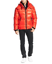 Men's Quilted Down Hooded Puffer Jacket
