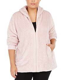Plus Size Quilted Sherpa Jacket