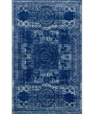 Mobley Mob2 Navy Blue 5' x 8' Area Rug