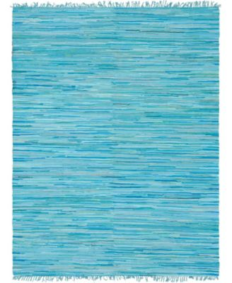 Jari Striped Jar1 Turquoise 4' x 6' Area Rug