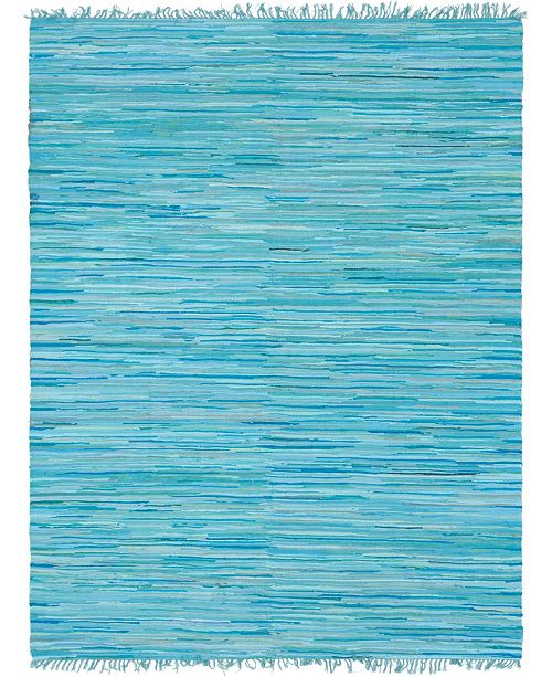 Bridgeport Home Jari Striped Jar1 Turquoise Area Rug Collection