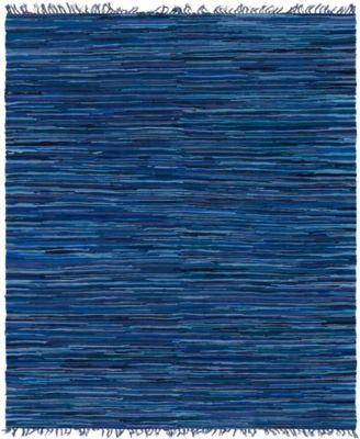 Jari Striped Jar1 Navy Blue 9' x 12' Area Rug
