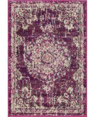 Lorem Lor1 Purple 9' x 12' Area Rug