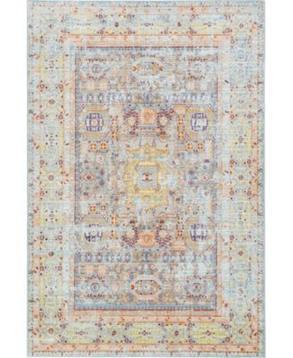Malin Mal1 Light Blue 6' x 6' Round Area Rug