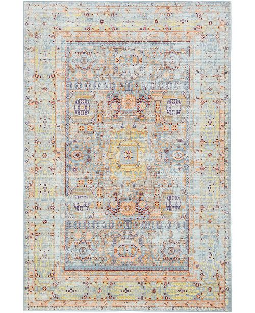 Bridgeport Home Malin Mal1 Light Blue Area Rug Collection