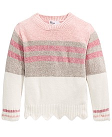 Toddler Girls Striped Chenille Sweater, Created For Macy's