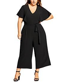 Trendy Plus Size Romantic Jumpsuit