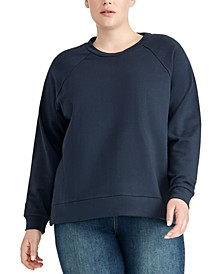 Trendy Plus Size Combo Raglan Top