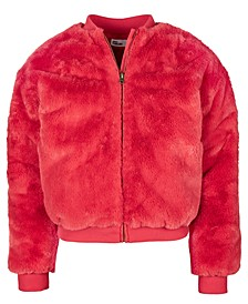 Big Girls Faux-Fur Bomber Jacket, Created For Macy's