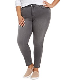 Plus Size Embellished-Pocket Curvy-Fit Skinny Jeans, Created for Macy's