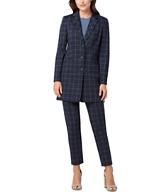 Tahari ASL Plaid Topper Jacket