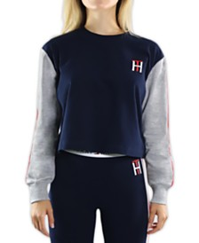 Tommy Hilfiger Colorblocked Cropped Sleep T-Shirt