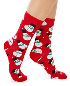 Women's Snowmen Crew Socks, Created for Macy's