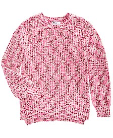 Big Girls Chenille Sweater, Created For Macy's