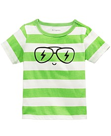 Baby Boys Cotton Graphic-Print Rugby Stripe T-Shirt, Created For Macy's