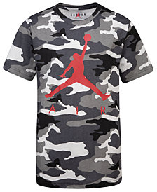 Jordan Big Boys Camo-Print Air T-Shirt