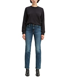 Straight-Leg Mid-Rise Jeans