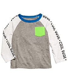 Baby Boys Cool Dude-Print Colorblocked T-Shirt, Created For Macy's