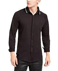 Men's Regular-Fit Tipped Jersey-Knit Shirt