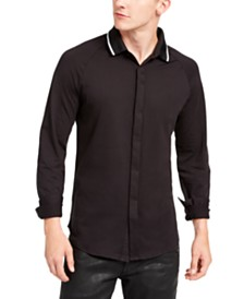 A|X Armani Exchange Men's Regular-Fit Tipped Jersey-Knit Shirt