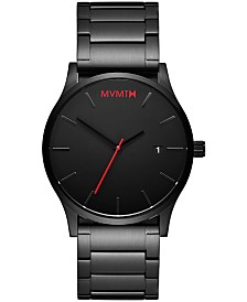 MVMT Men's Classic Black Stainless Steel Bracelet Watch 45mm