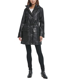 DKNY Anorak Leather Jacket