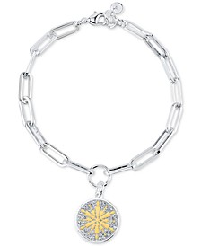 Frozen 2 Link Bracelet in Two-Tone Silver-Plate