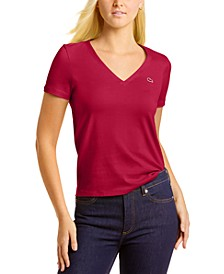 Short Sleeve Classic Jersey V-Neck Tee Shirt
