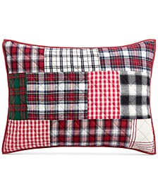 Holiday Patchwork Standard Sham, Created For Macy's