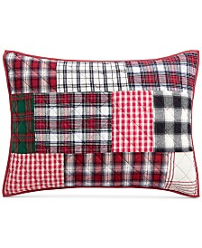 Martha Stewart Collection Holiday Patchwork King Sham, Created For Macy's