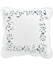 Stenciled Leaves European Sham, Created for Macy's