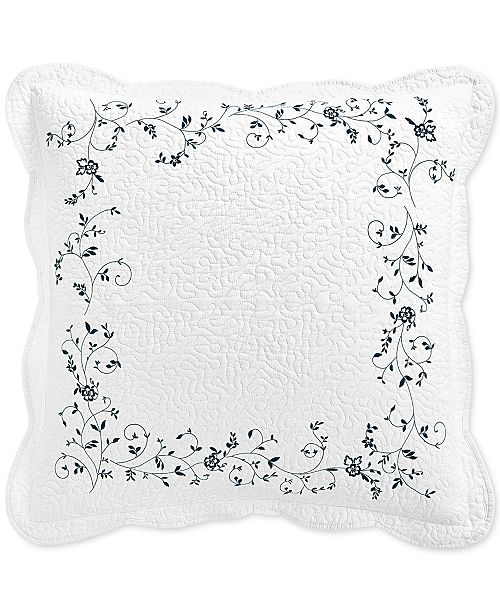 Martha Stewart Collection Stenciled Leaves European Sham, Created For Macy's