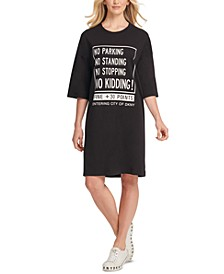 Cotton Graphic T-Shirt Dress